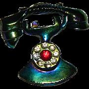 SALE Fun Figural Two piece Telephone Brooch