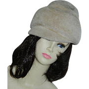 Chic Faux Fur Winter Hat Ca 1960's