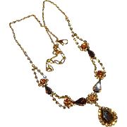 SALE Special Juliana D&E Amber Stones Gold Rhodium Plated Drop Necklace