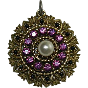 SOLD Significant Victorian Rhinestone Eclectic Pendant