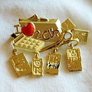 SALE Fun Danecraft Coupon Clipper Figural Brooch ~ Extreme Couponing!