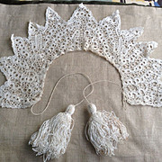17 th century Flemish lace collar. Museum  quality. Linen