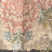 Early 18 th century court dress fragment, silk brocade, English