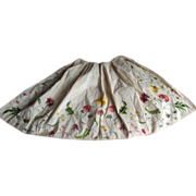 SOLD Early 18 th century hand embroidered silk apron. English.