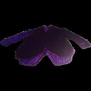 SOLD Victorian child's mourning jacket ,opulent purple silk velvet. Unworn.circa 1870.