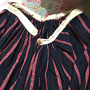 19 th century heavy wool winter petticoat. Red and black stripes. Rare. From the North of Engl