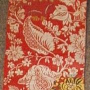 Rare . English silk and wool panel . Woven , circa 1720.