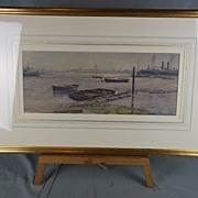 Woolston, Southampton Across The River Itchen By Martin Snape (1852-1930) c1890