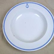 c1890 Queen Victoria Worcester Royal Yacht Osborne Porcelain Mess Plate