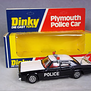 "Dinky Toys No.244 Plymouth ""Police"" Car, Boxed"