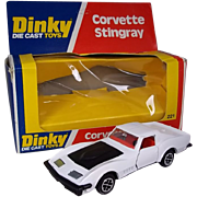 Dinky Toys No. 221 Corvette Stingray In White, Boxed 1976