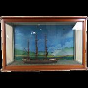 Victorian Clipper Ship 'E.K. Virgo' in a Wood and Glass Case