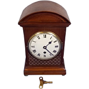 Circa 1850 Victorian 8 Day Single Fusee Mantel Clock
