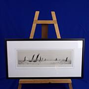 "William L. Wyllie (1851-1931) - Etching- ""The Trawler Fleet"" - Signed"