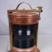 Copper and Brass Electrified Starboard Lantern 400 NK 77