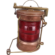 Copper and Brass Electrified All Round Mast Head Lantern