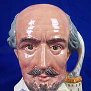 """SOLD Royal Doulton Toby Jug:- D6689 """"William Shakespeare"""" Shakespearean Collection"""
