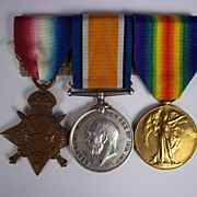 WW1 Medal Trio Awarded to PTE.S.H Bracey Yorkshire Light Infantry
