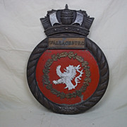 The Main Ships Crest From The WW2 Canadian Algerine Class Minesweeper HMCS Wallaceburg (J336)