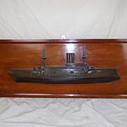 Half Hull Royal Navy c1900 Canopus Class First Class Battleship  Model