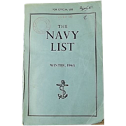 The Navy List  Book, Winter 1963