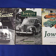 Jowett Cars Three Book CollectionSigned By Author Noel Stokoe
