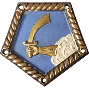 Bronze Ship's Boat Badge From HMS Vindictive (1918) Aircraft Carrier