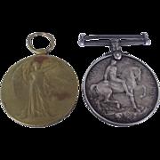WW1 British War Medal & Victory Medal Pair - PTE J.Shedden Kings Own Yorkshire L.I.
