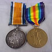 WW1 British War medal & Victory medal - PTE A.E.Brown - Queens Regiment