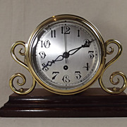 Brass German Remounted Ships Fusee Clock c1900 - Serviced