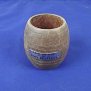 Barrel Made From The Teak Of WW1 Destroyer HMS Restless