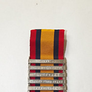 Queen's South Africa Medal 5 Clasps TPR G. Taylor, 104th (Derby) Company Imp Yeo