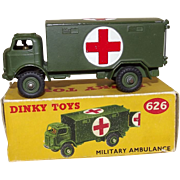 Dinky Toys No. 626 Military Ambulance, Boxed # 1