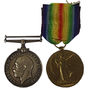 British War & Victory Medal Pair PTE W. Parfitt West Yorkshire Regiment