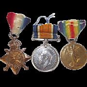 British WW1 1914/15 Medal Trio Lead Stoker E. Headford Royal Navy
