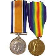 WW1 Medal Pair Pte. G.E. Clarke Royal Berkshire Regiment