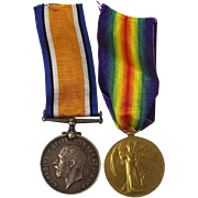 WW1 Medal Pair Pte. J. Adams Devon Regiment