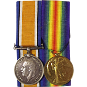 WW1 Medal Pair Pte. H.V. Adams Queen's Own Royal West Kent Regiment