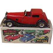 Triang Minic 18M Red Vauxhall Town Coupe Post-war