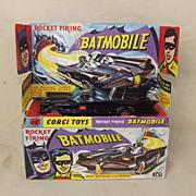 Corgi 267 Batmobile With Batman & Robin, First Issue In Gloss Black