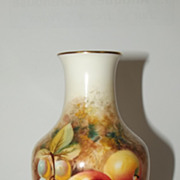 Royal Worcester Small Hand Painted Fruit Vase By William Roberts 1960