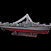 "c1940 Scratch Built Live Steam Powered Model Of The Royal Navy Destroyer ""HMS Lightning"""
