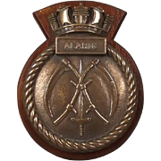 Mounted Bronze Ships Plaque Submarine HMS Alaric (P441)