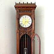 c1900 High Quality English Gothic Revival Longcase Clock in Mahogany