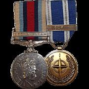 R.N. Afgan British Operational Service & NATO Service Medal