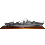 A Scale Model Of The Royal Navy Battle Class Destroyer HMS Cadiz