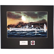 Airfix Original Artwork Cibachrome Print of HMS Ajax