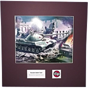 Airfix Original Artwork Cibachrome Print Of Russian Stalin Tank