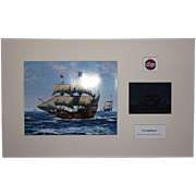 Airfix Original Artwork Cibachrome Print & Photo Negative Of The Mayflower Ship