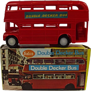Salco 454 -Red Friction Powered Double Decker Bus